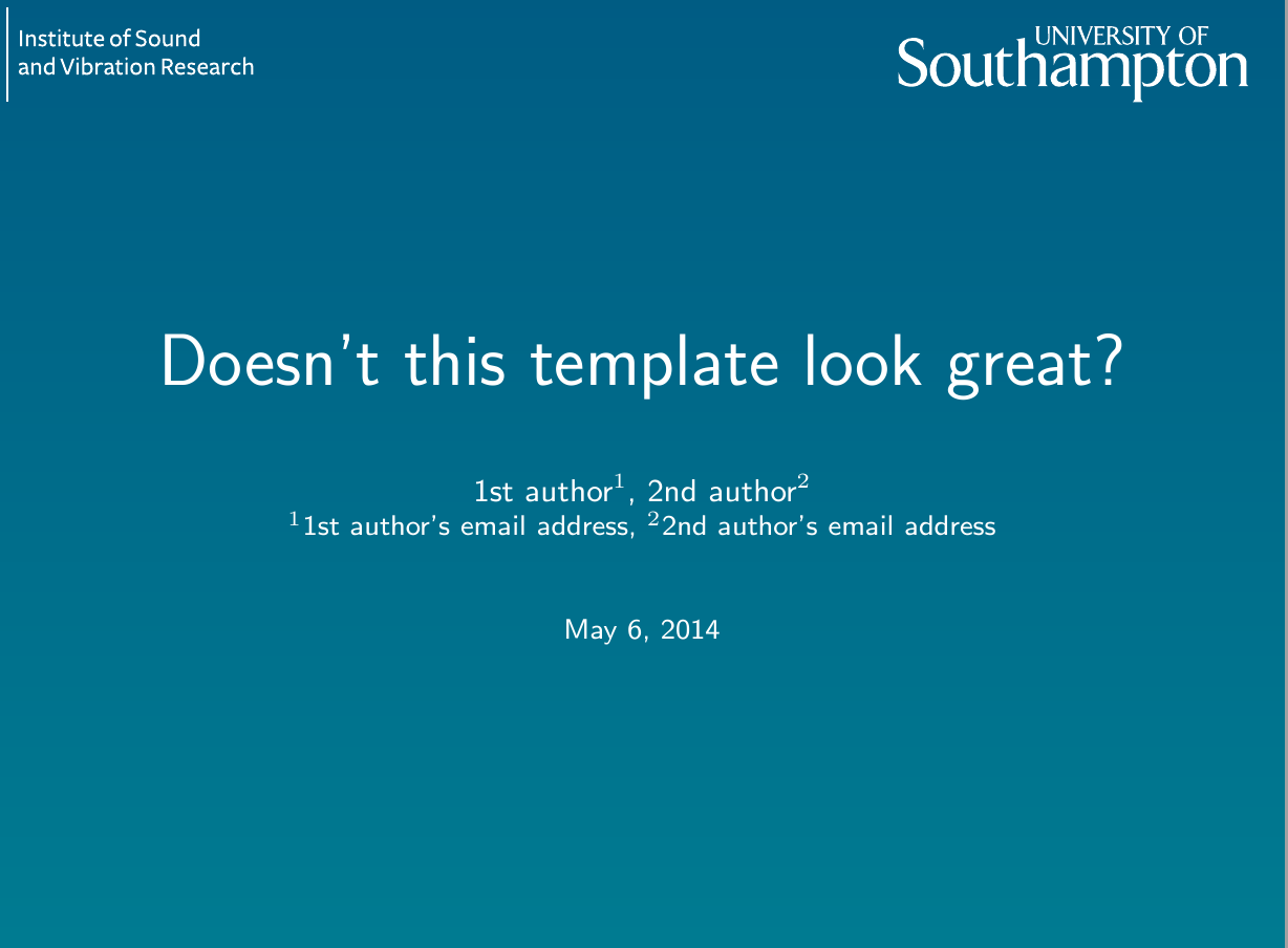 University of southampton latex thesis template